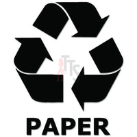 Recycle Paper Sign Decal Sticker