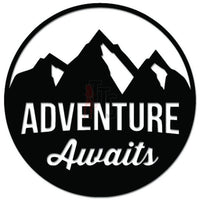 Adventure Awaits Mountain Outdoor Decal Sticker