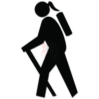 Hiker Women Hiking Backpacking Decal Sticker