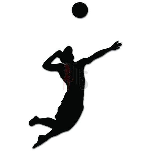 Men Volleyball Sport Decal Sticker