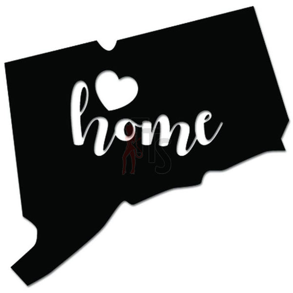 Home Is Where The Heart Is Connecticut State Map Decal Sticker