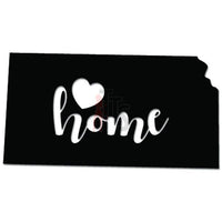 Home Is Where The Heart Is Kansas State Map Decal Sticker
