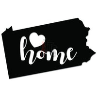 Home Is Where The Heart Is Pennsylvania State Map Decal Sticker