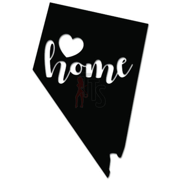 Home Is Where The Heart Is Nevada State Map Decal Sticker