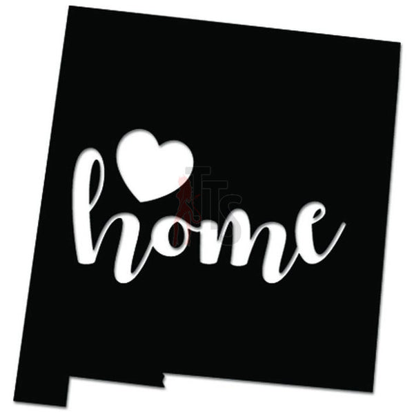 Home Is Where The Heart Is New Mexico State Map Decal Sticker