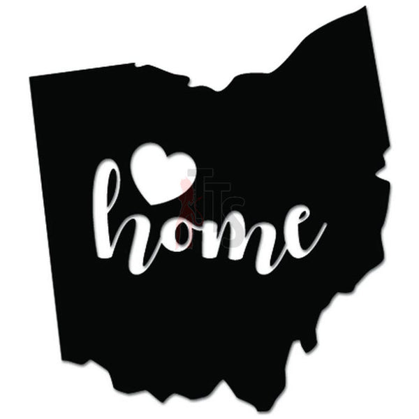 Home Is Where The Heart Is Ohio State Map Decal Sticker