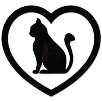 Cat Heart Love Pet Lover Decal Sticker