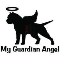My Guardian Angel German Pitbull Dog Decal Sticker