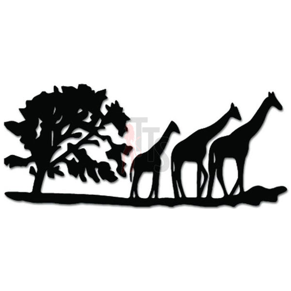 Giraffe Family Safari Africa Decal Sticker Style 2