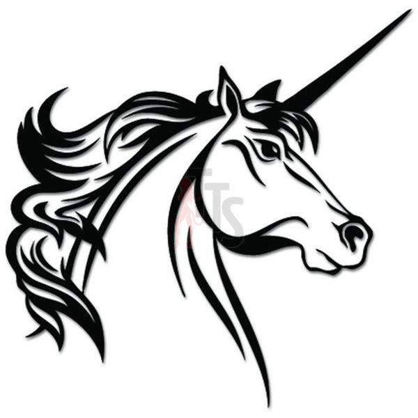 Tribal Unicorn Horse Decal Sticker