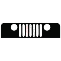 Jeep Grill 4x4 Off Road Decal Sticker