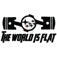 Boxer Engine Subaru The World Is Flat Decal Sticker