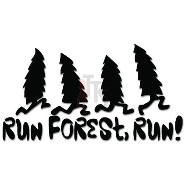 Funny Run Forest Run Gump Movie Decal Sticker