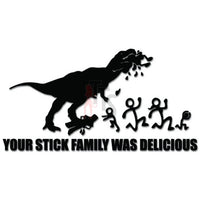 T-Rex Stick Eating Stick Family Delicious Decal Sticker