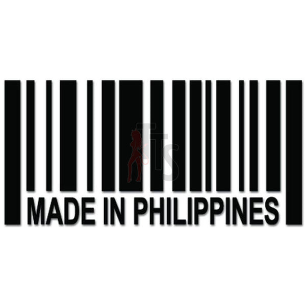 Made In Phillippines Barcode JDM Japanese Decal Sticker