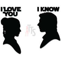 Han Solo Leia I Love You Decal Sticker