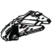 Millenium Falcon Spaceship Decal Sticker