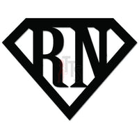 Super RN Nurse Hero Decal Sticker