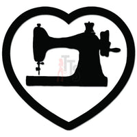Sewing Tailor Love Heart Decal Sticker