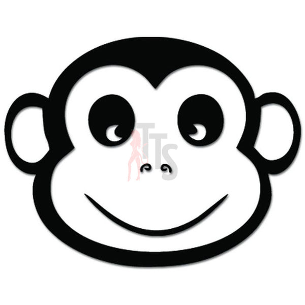 Cute Monkey Smiling Decal Sticker