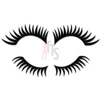 Long Eyelashes Cosmetician Decal Sticker