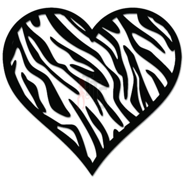 Heart Stripes Love Decal Sticker