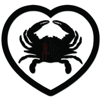 Crab Seafood Love Lover Heart Decal Sticker