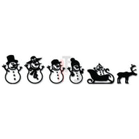 Snowman Family Christmas Sled Decal Sticker