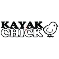 Kayak Chick Kayaking Girl Decal Sticker