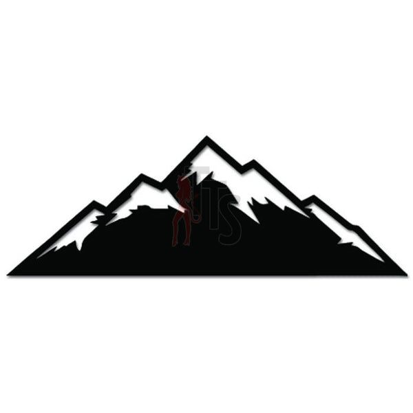 Mountain Snow Outdoor Hiking Climber Decal Sticker