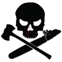 Death Skull Logger Axe Saw Timber Decal Sticker