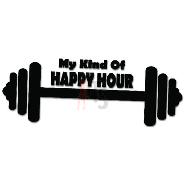 Happy Hour Weightlifting Decal Sticker