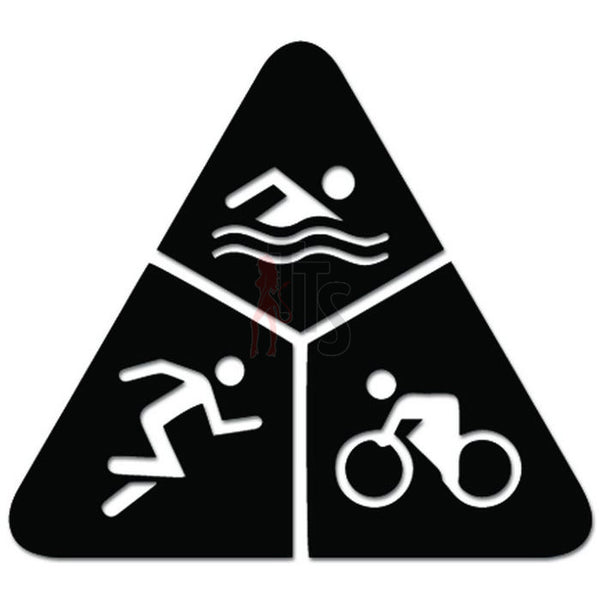 Triathlon TriAthlete Run Bike Swim Decal Sticker