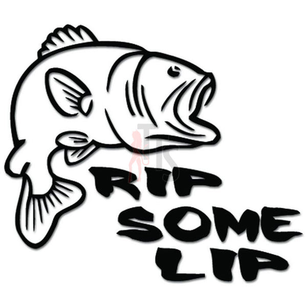 Rip Some Lip Bass Fish Fishing Decal Sticker