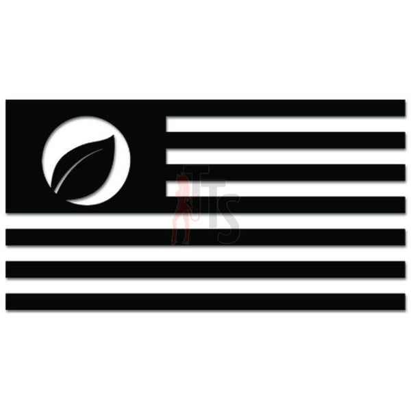 Ecology Flag Leaf Green Environmentalist Decal Sticker