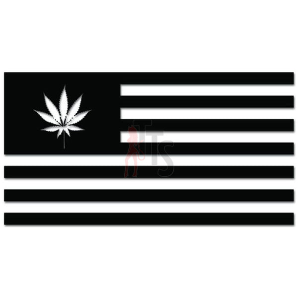 Ecology Flag Weed Marijuana Environmentalist Decal Sticker