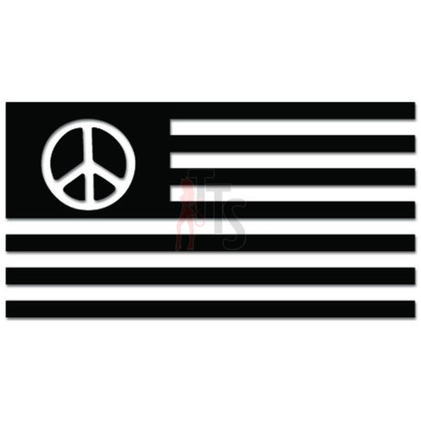 Ecology Flag Peace Sign Environmentalist Decal Sticker