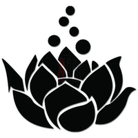Lotus Flower Om Aum Yoga Decal Sticker Style 2