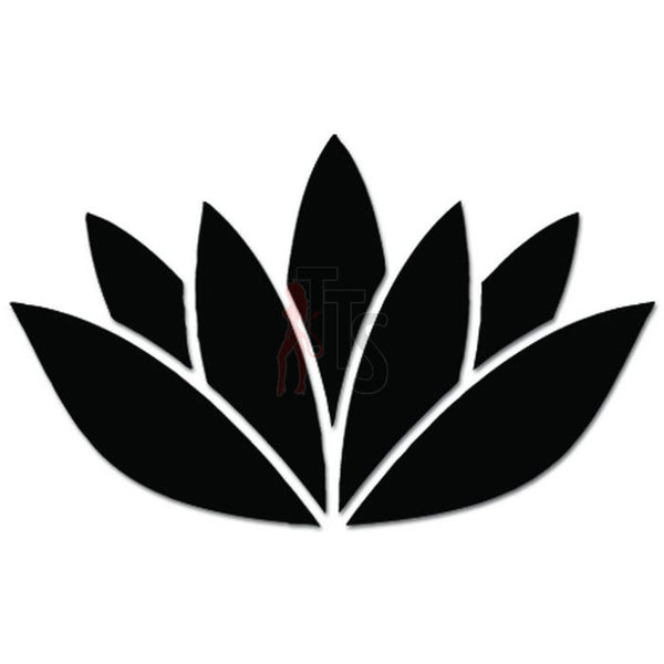 Lotus Flower Om Aum Yoga Decal Sticker Style 3