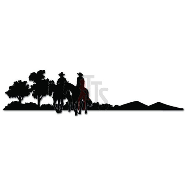 Cowboy Riding Horse Western Decal Sticker