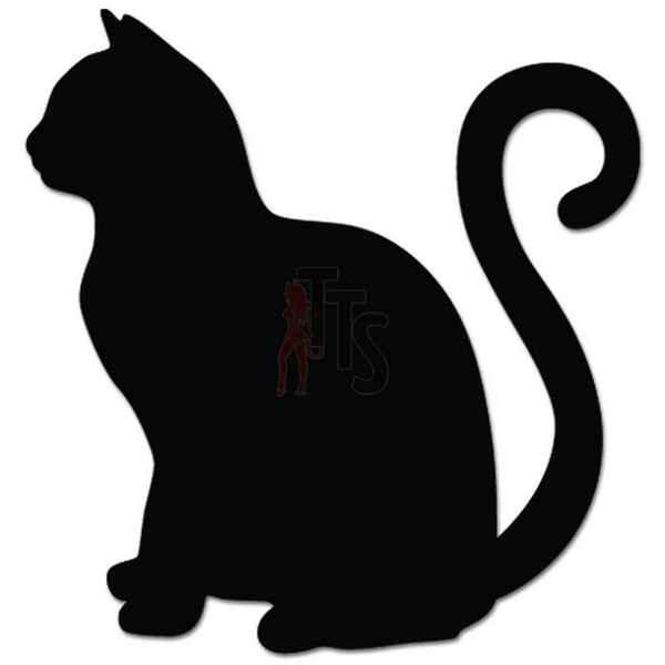 Cat Kitty Kitten Sitting Decal Sticker