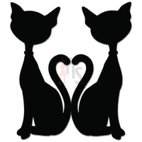 Cat Tail Heart Love Kitten Kitty Decal Sticker