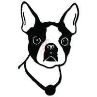 Cute Boston Terrier Head Dog Pet Decal Sticker