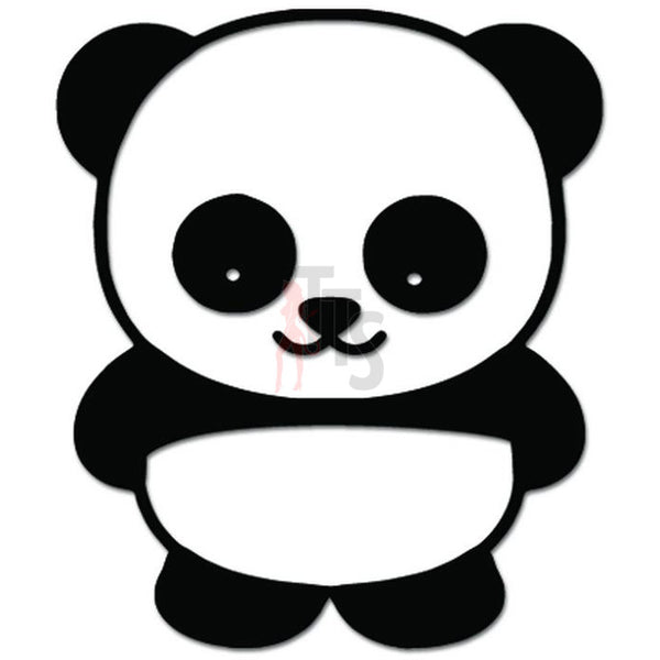 Cute Little Panda Bear Decal Sticker