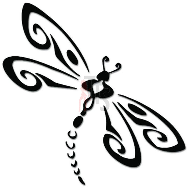 Tribal Dragonfly Tattoo Decal Sticker