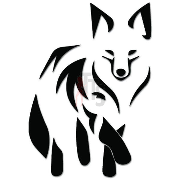 Tribal Fox Animal Decal Sticker