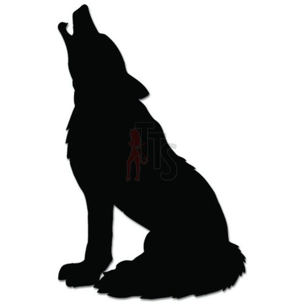 Wolf Howling Decal Sticker