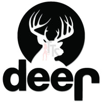 Deer Jeep Moonlight Hunting Decal Sticker