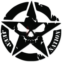 Jeep Nation Army Star Death Skull Decal Sticker