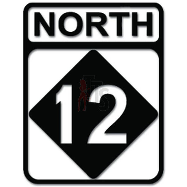 North Carolina Highway 12 Sign Decal Sticker
